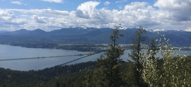 The City of Sandpoint and Lake Pend Oreille, Bonner County, Idaho. Photo by Danya Rumore.