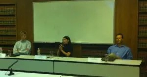 Attorneys John Lore, Cassie Medura, and Ben Lieberman