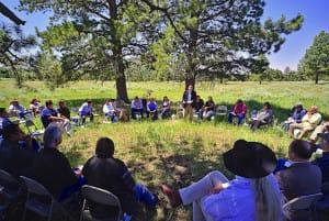 In July, the Bears Ears Inter-Tribal Coalition met with federal representatives in situ at Bears Ears.