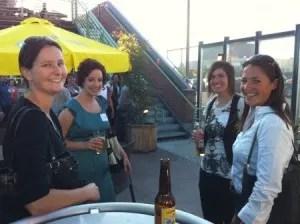 2L Kristin Scherruble and 1L's Lara Stewart, Whitney Banks, and Megan McKay