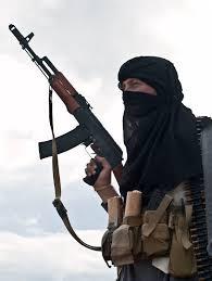 Terrorist with Kalashnikov