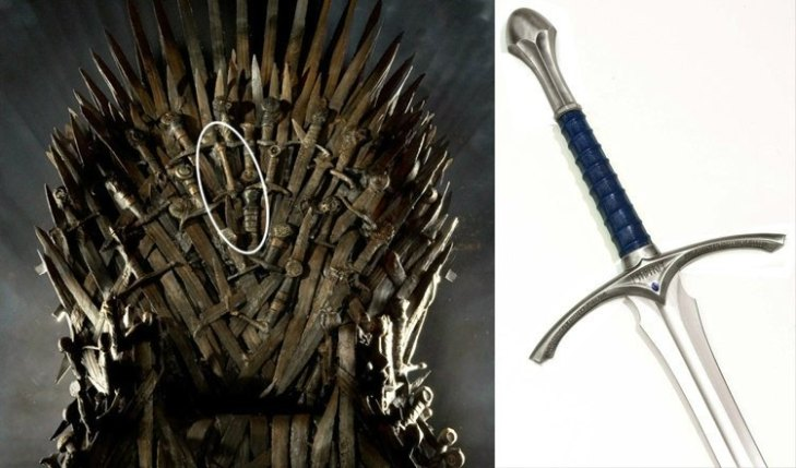 swords in the Iron Throne is a replica of Glamdring