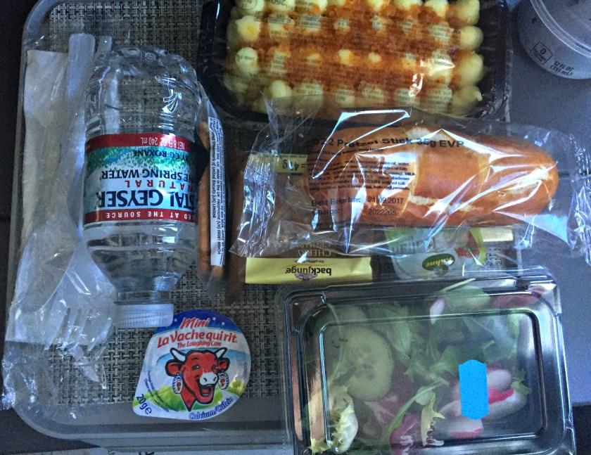 Pranzo sul volo di andata