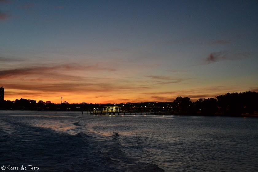 Magnifico tramonto sulla baia di Sydney