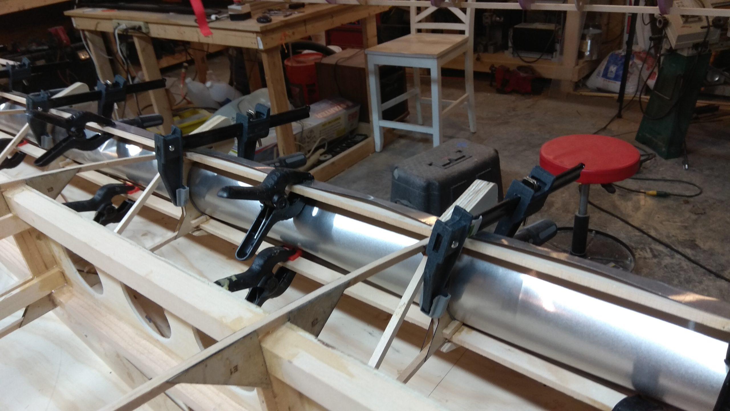 Aileron Inboard Aluminium Cap and wood strips