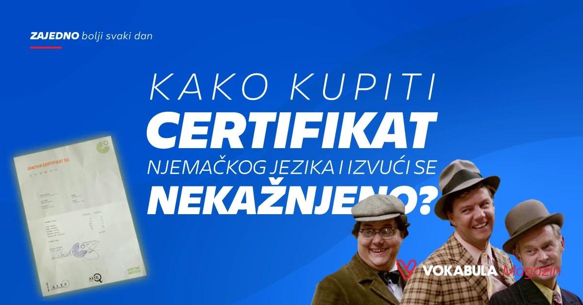 Kako kupiti certifikat njemačkog jezika?