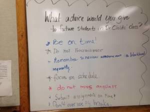 Class Advice