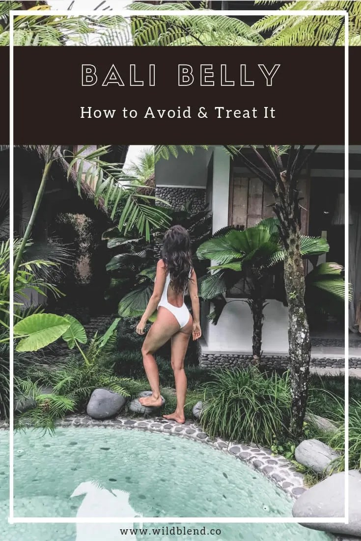 Bali Belly How to Avoid & Treat It Pinterest graphic