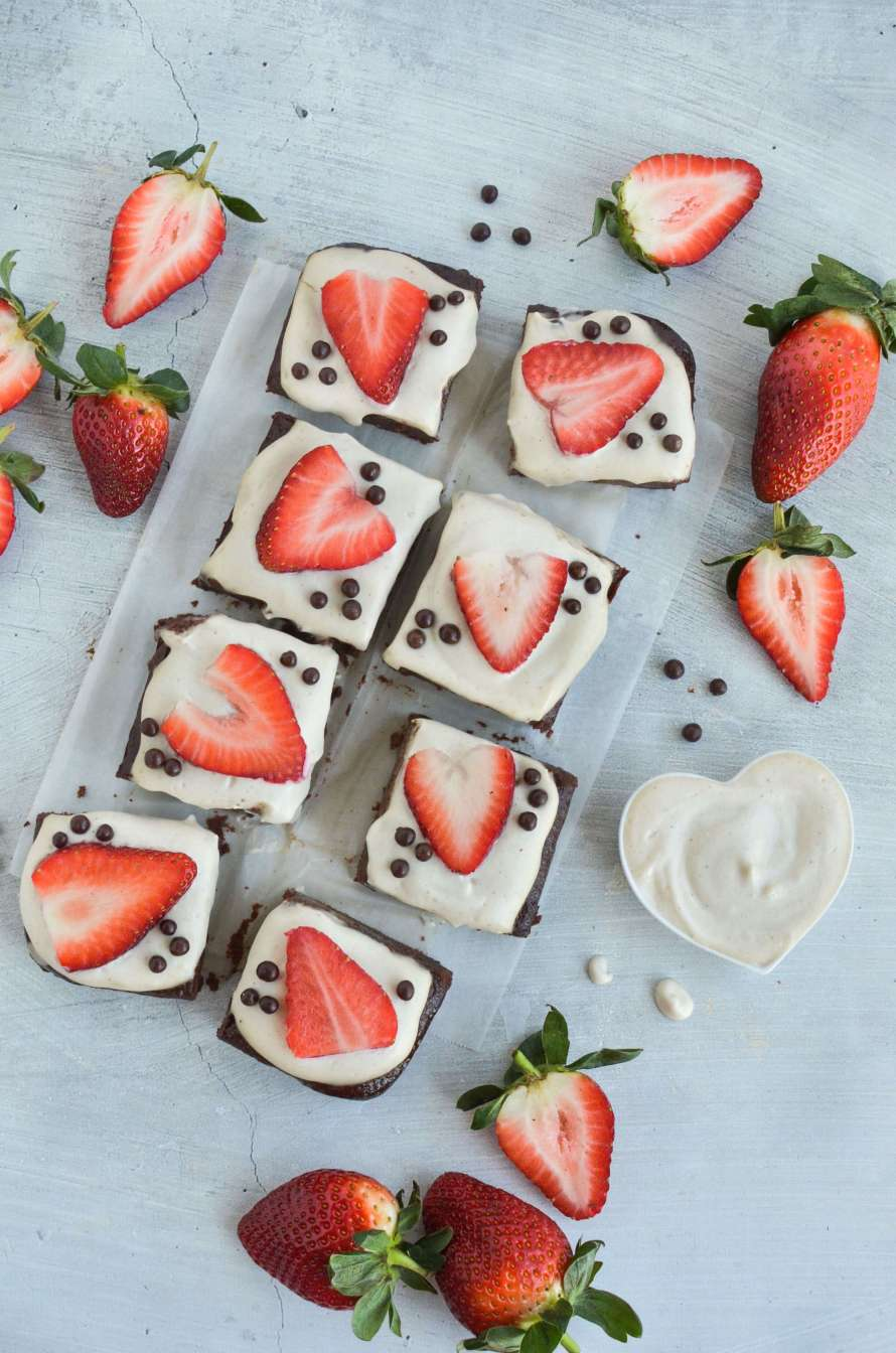 Strawberries and Cream Brownies
