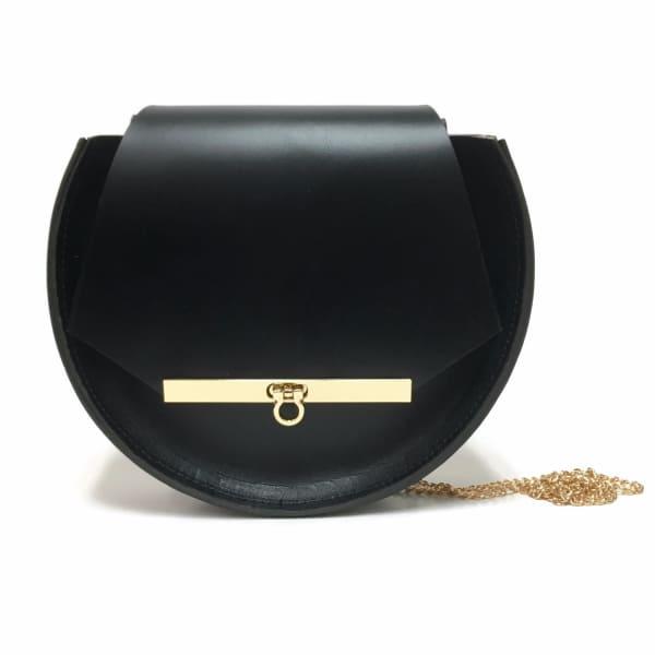 Loel Mini Military Bee Chain Bag Clutch In Black Angela