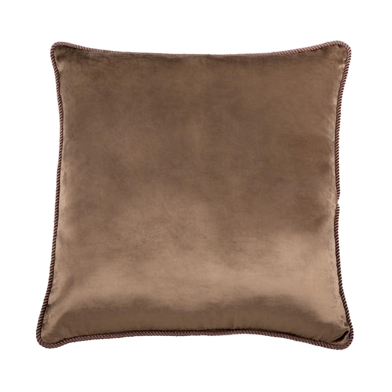 fawn brown velvet cushion by bivain