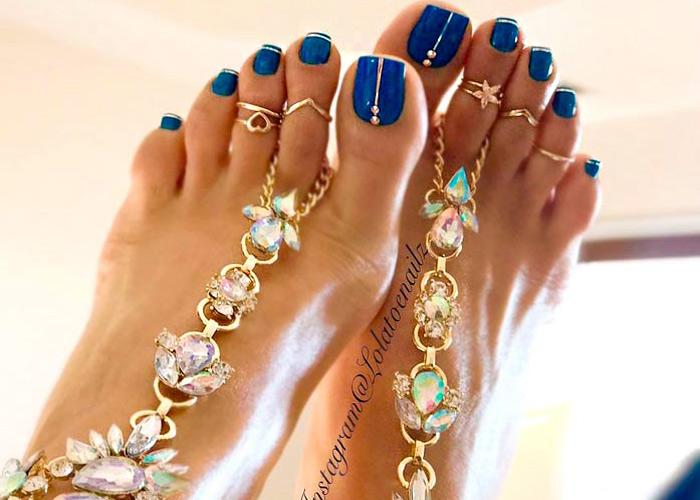 Σχέδια για νύχια ποδιών άνοιξη καλοκαίρι