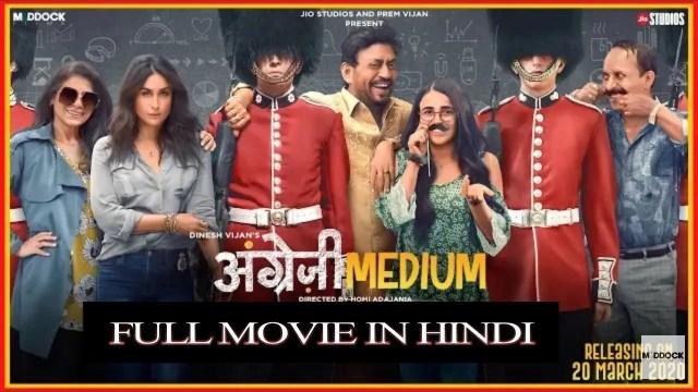 Angreji Medium Full Movie Download Filmywap