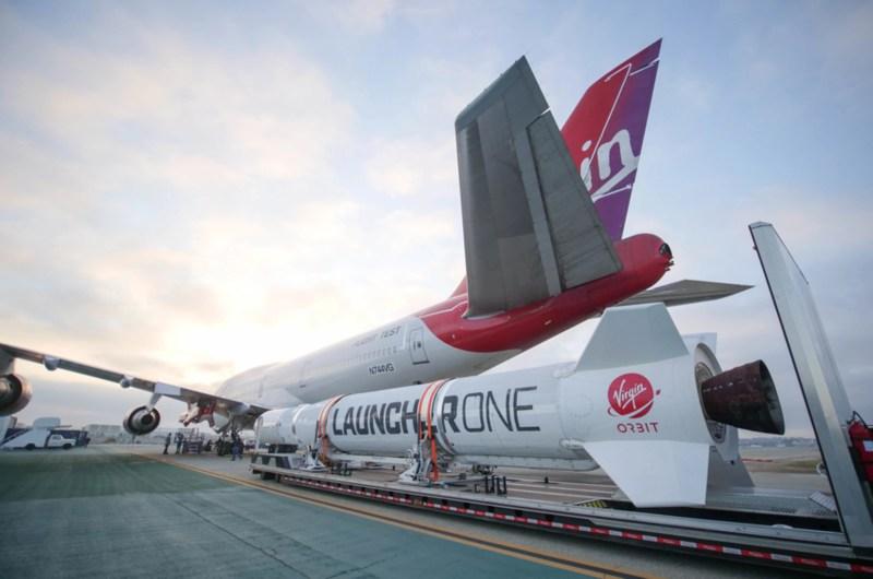 Virgin Orbit's LauncherOne meets Cosmic Girl 747 | Virgin