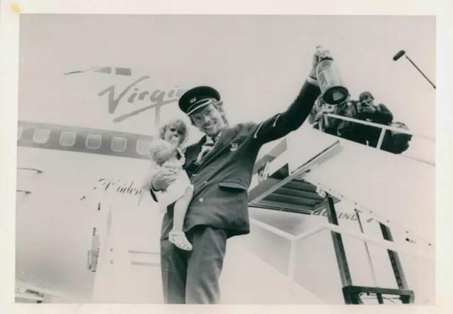 Richard Branson and Holly Virgin Atlantic Maiden Voyager