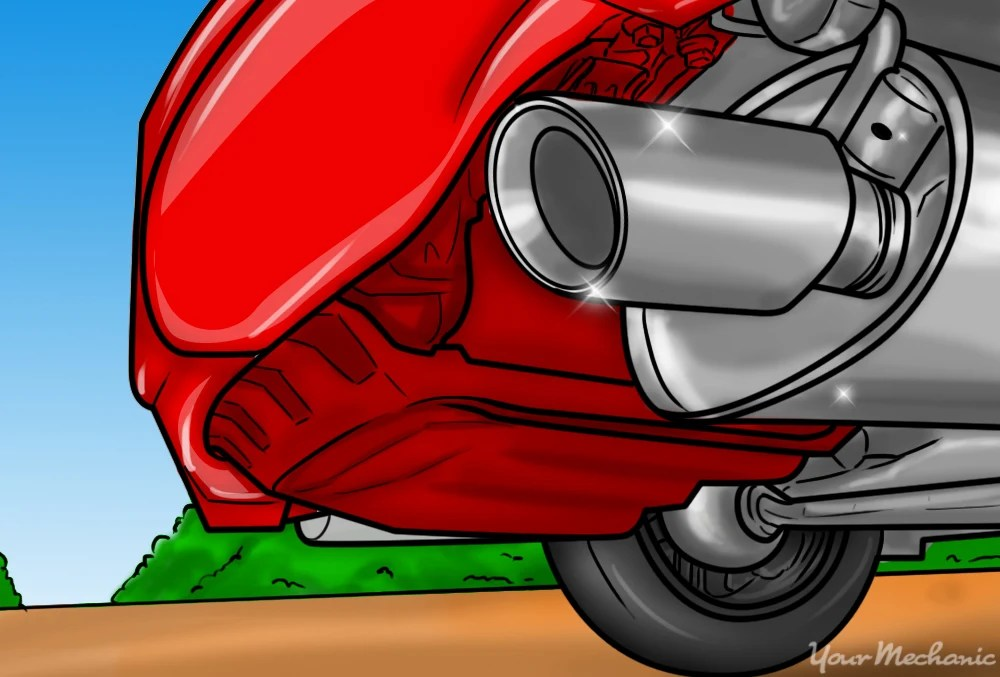 how to repair an exhaust pipe