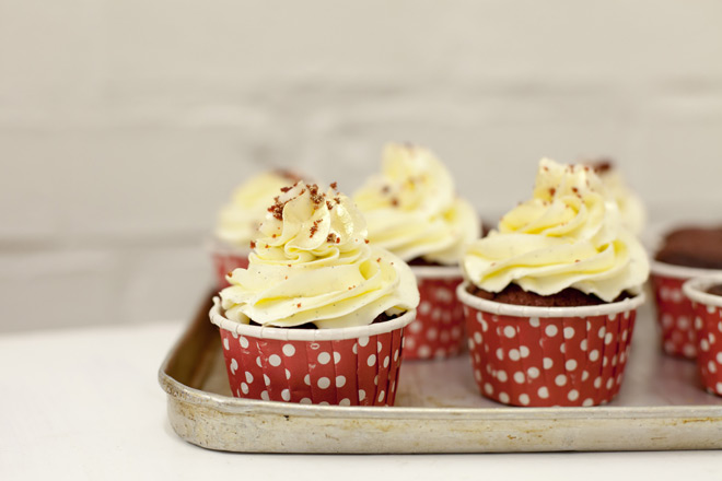 High Res Red Velvet Cupcakes