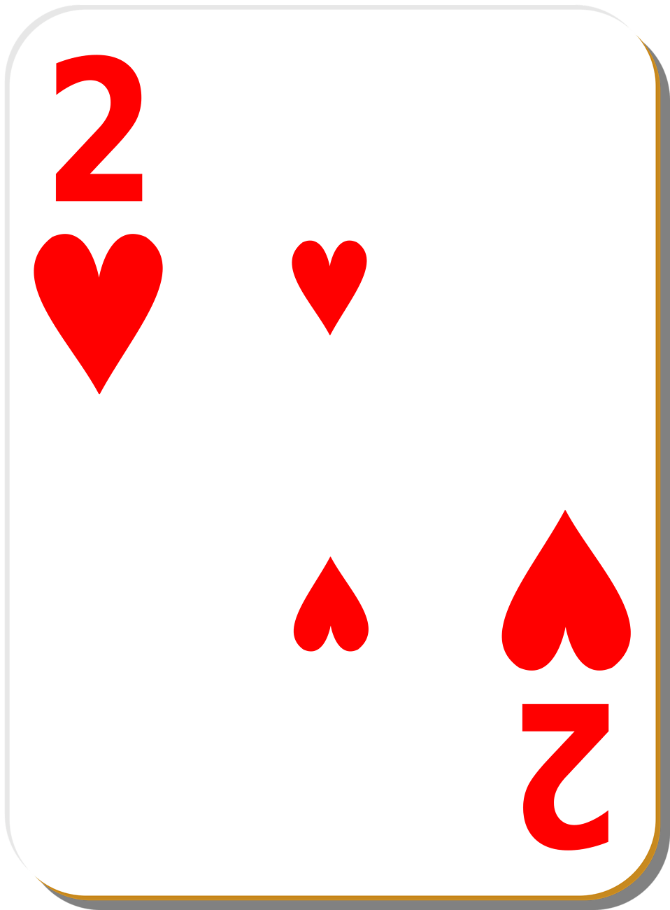 Playing Card | Free Stock Photo | Illustration of a Two of ... (958 x 1300 Pixel)