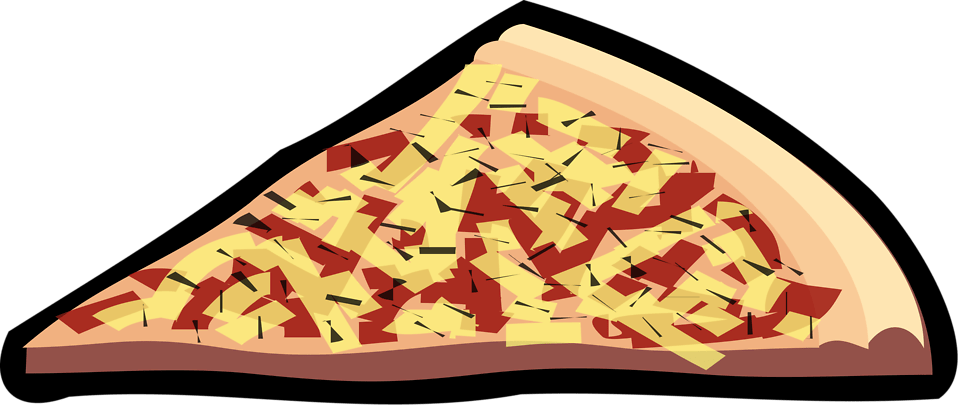 Pizza Free Stock Photo Illustration Of A Slice Of Pizza With Toppings 16529