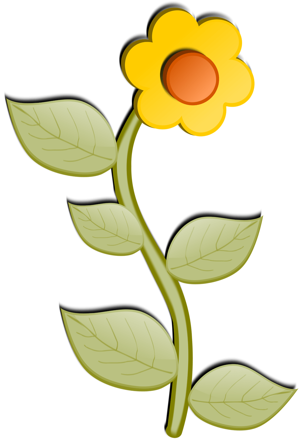 Flower   Free Stock Photo   Illustration of a yellow ... (958 x 1397 Pixel)