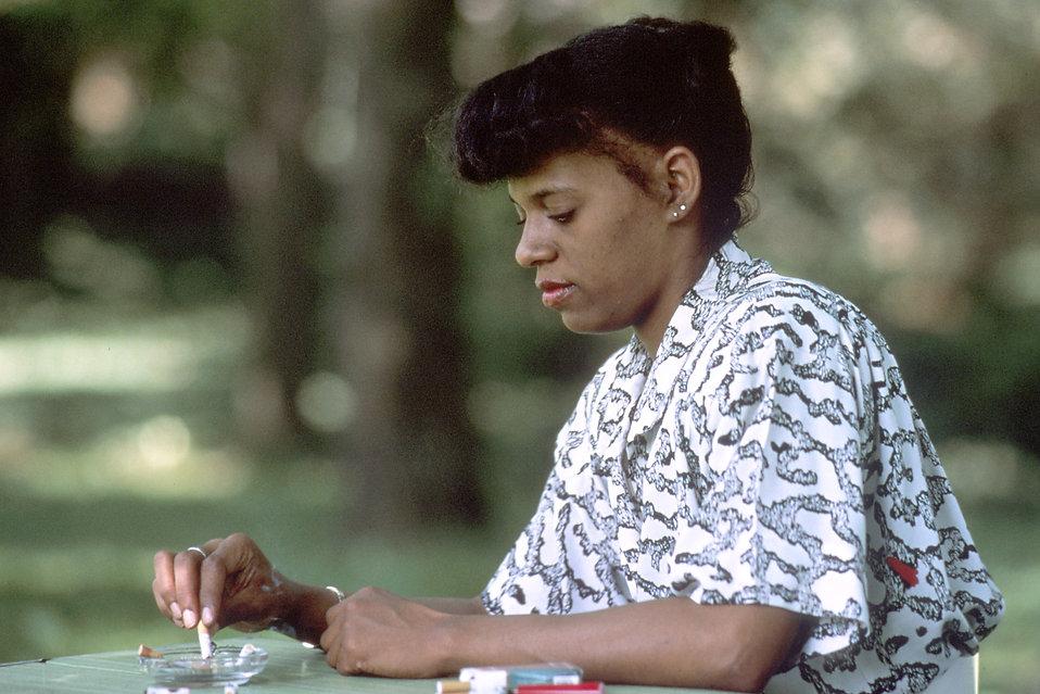 Smoking Free Stock Photo An African American Woman