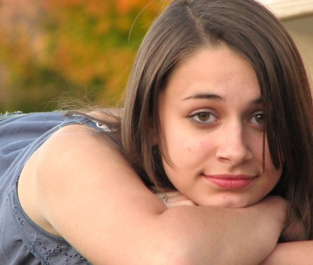 Close Up Portrait Of A Beautiful Teen Girl Outdoors Free Stock Photo