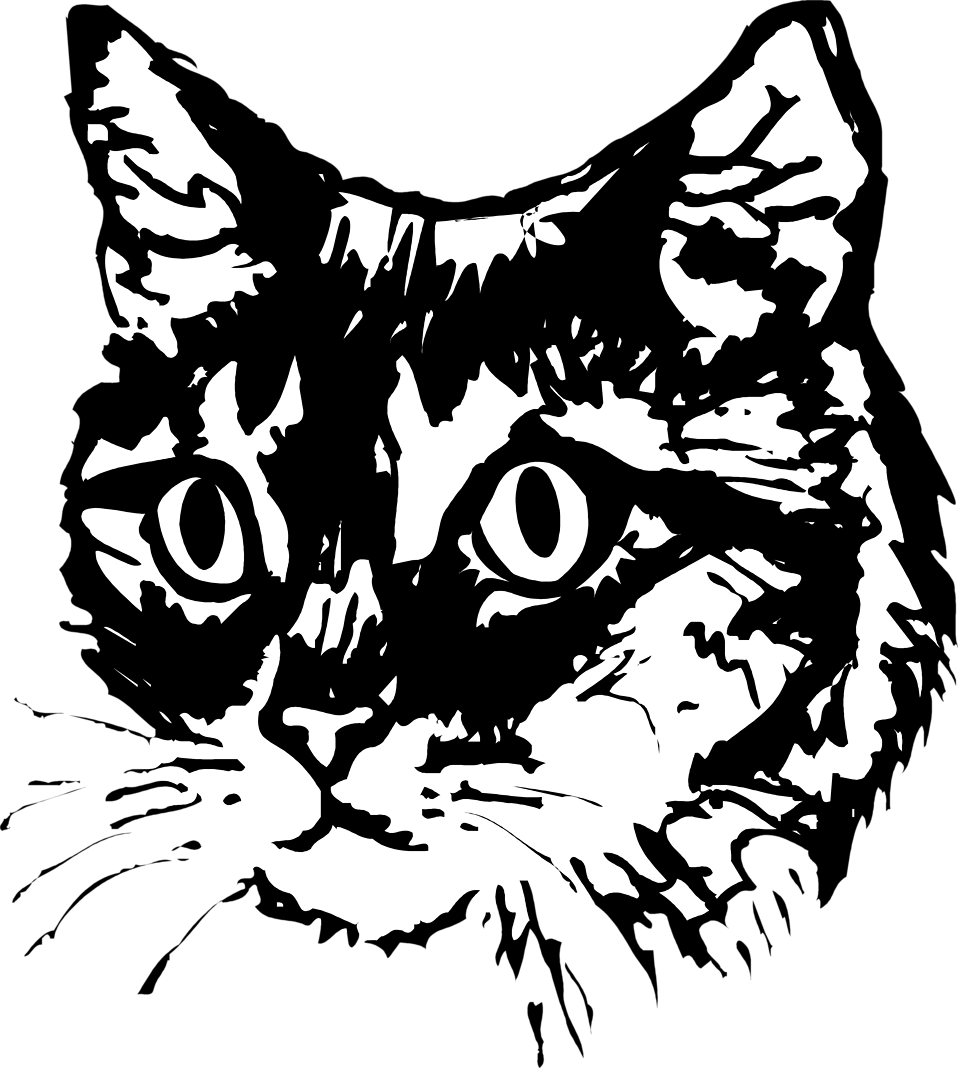 2 Cats Clipart Black And White