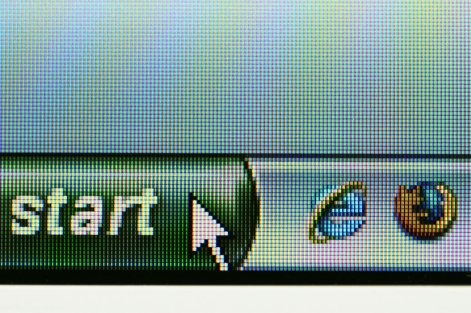 Free Stock Photo: Windows start button on a computer screen