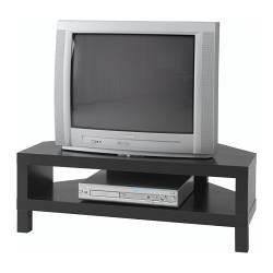 Lack Corner Tv Bench Black Brown Ikeapedia