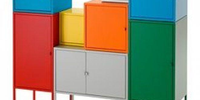 Lixhult Meuble De Rangement Blancvertbleujaune Rougeorangegris Ikeapedia