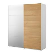 Pax Armoire Portes Coulissantes Blanc Malm Miroir Chene Ikeapedia