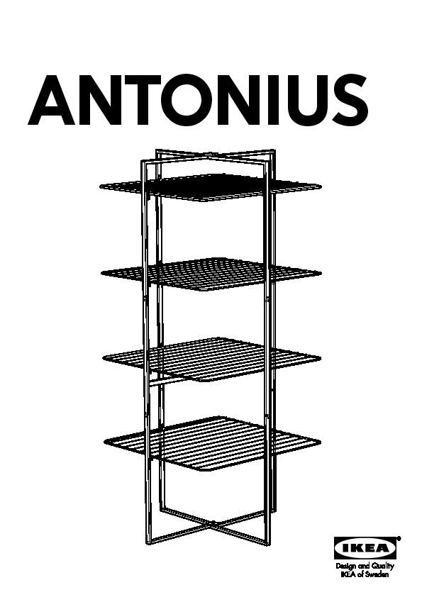Antonius Sechoir A Linge Pliant Blanc Ikeapedia