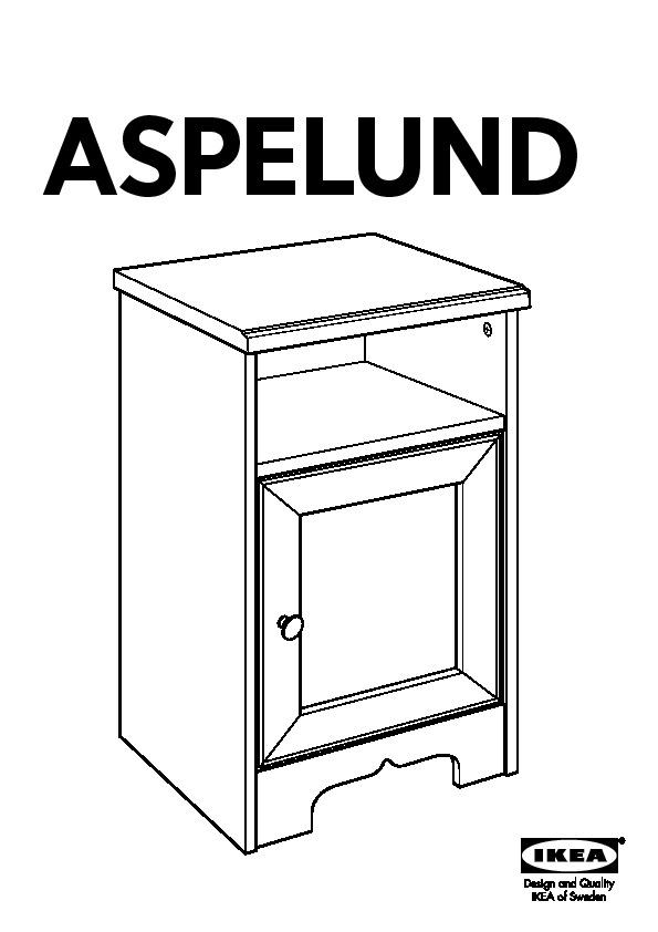 Aspelund Table De Chevet Blanc Ikea France Ikeapedia