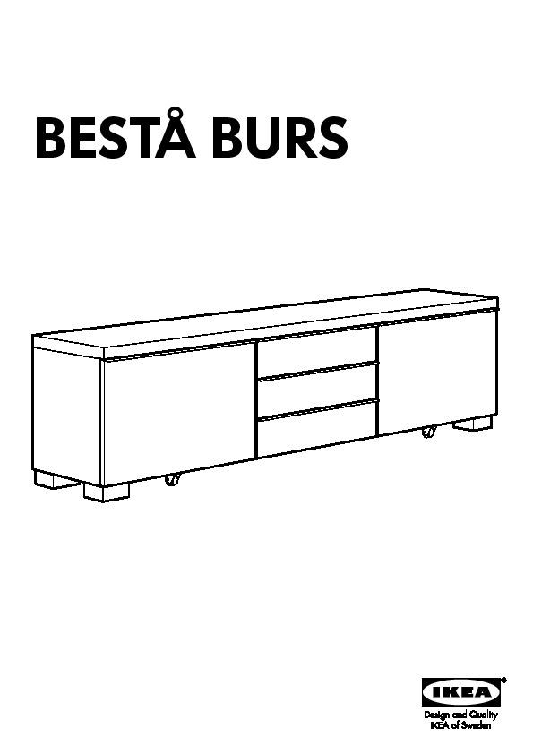 besta burs banc tv brillant blanc