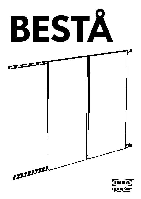 Besta Storage Combination W Sliding Doors Walnut Effect Ikeapedia