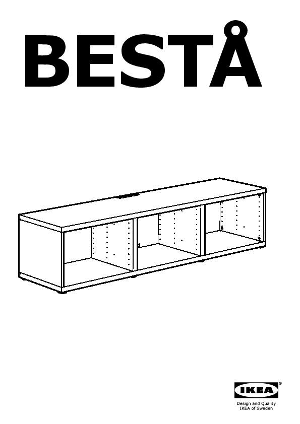 besta tv unit with drawers and door