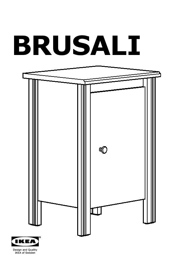 Brusali Table De Chevet Blanc Ikea France Ikeapedia