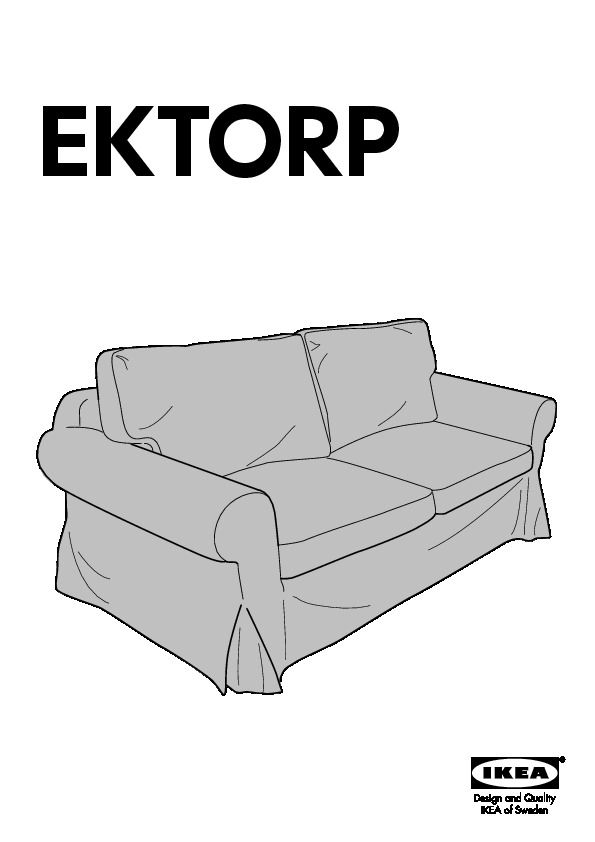 Ektorp Convertible 2 Places Idemo Noir Ikea France Ikeapedia