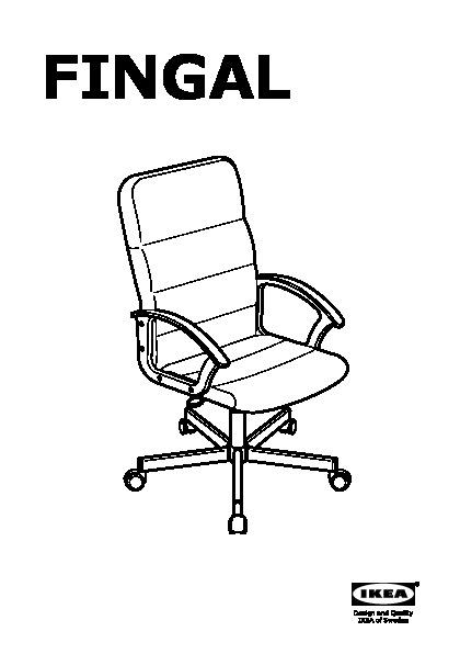 fingal chaise pivotante noir ikeapedia