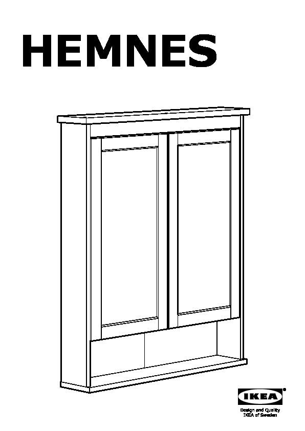 Hemnes Mirror Cabinet With 2 Doors White Ikeapedia