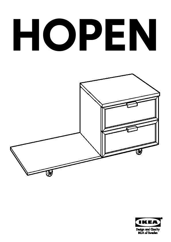 Hopen Table Chevet Brun Noir Ikea Canada French Ikeapedia