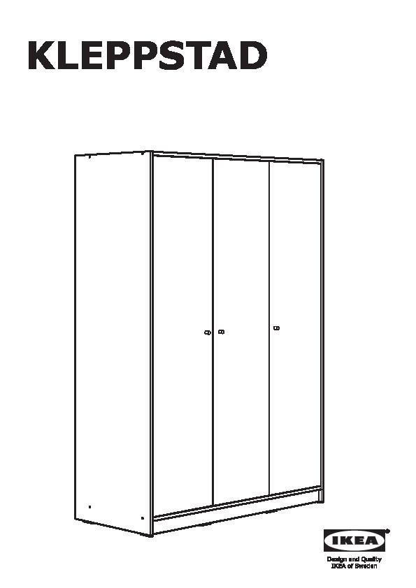 kleppstad armoire 3 portes kleppstad