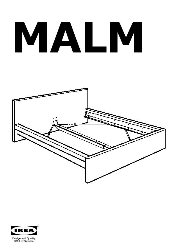 MALM Cadre De Lit Bas Blanc Lade IKEA France IKEAPEDIA