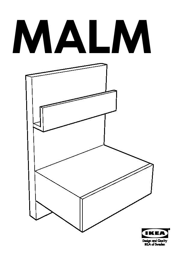 Malm Table Chevet Brun Noir Ikea France Ikeapedia