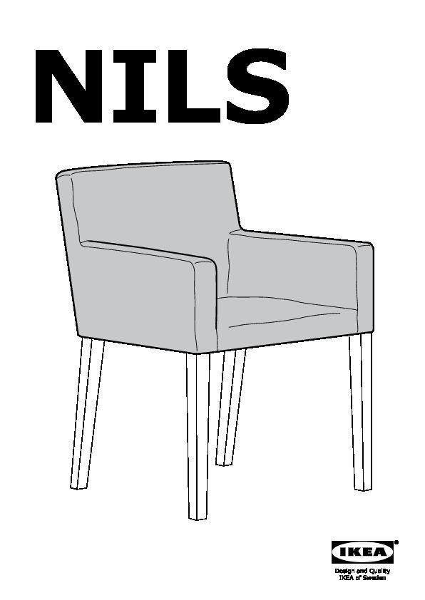 nils chaise a accoudoirs noir blekinge