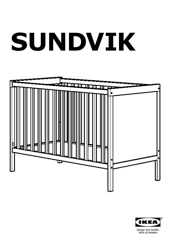 sundvik lit bebe blanc ikeapedia