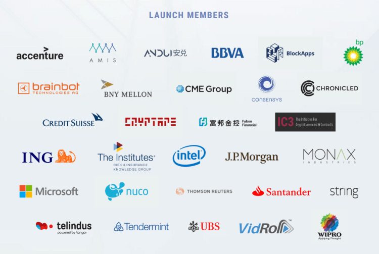 Enterprise Ethereum Alliance Launch Members