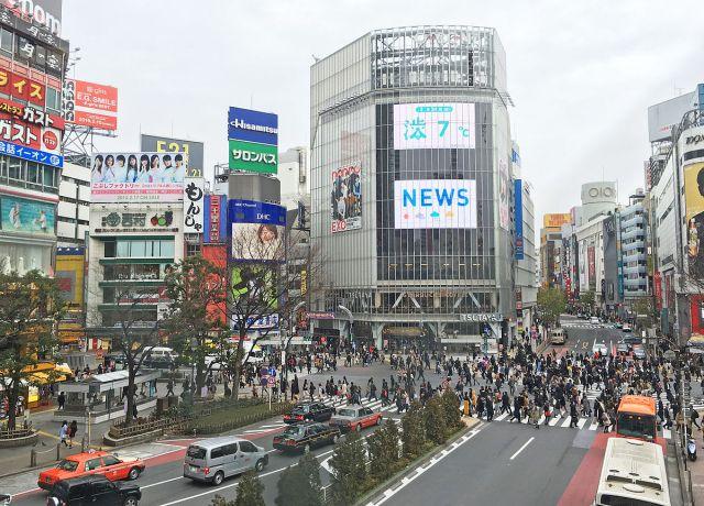 澀谷的十字路口。(來源:ja.wikipedia.org)