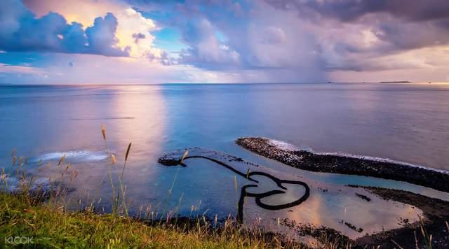 七美島雙心石滬。