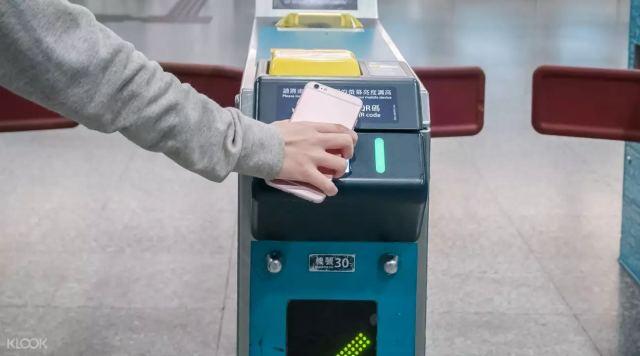 ▲ 掃描QR Code即可進站,非常方便。